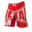 Short arts martiaux metal boxe rouge